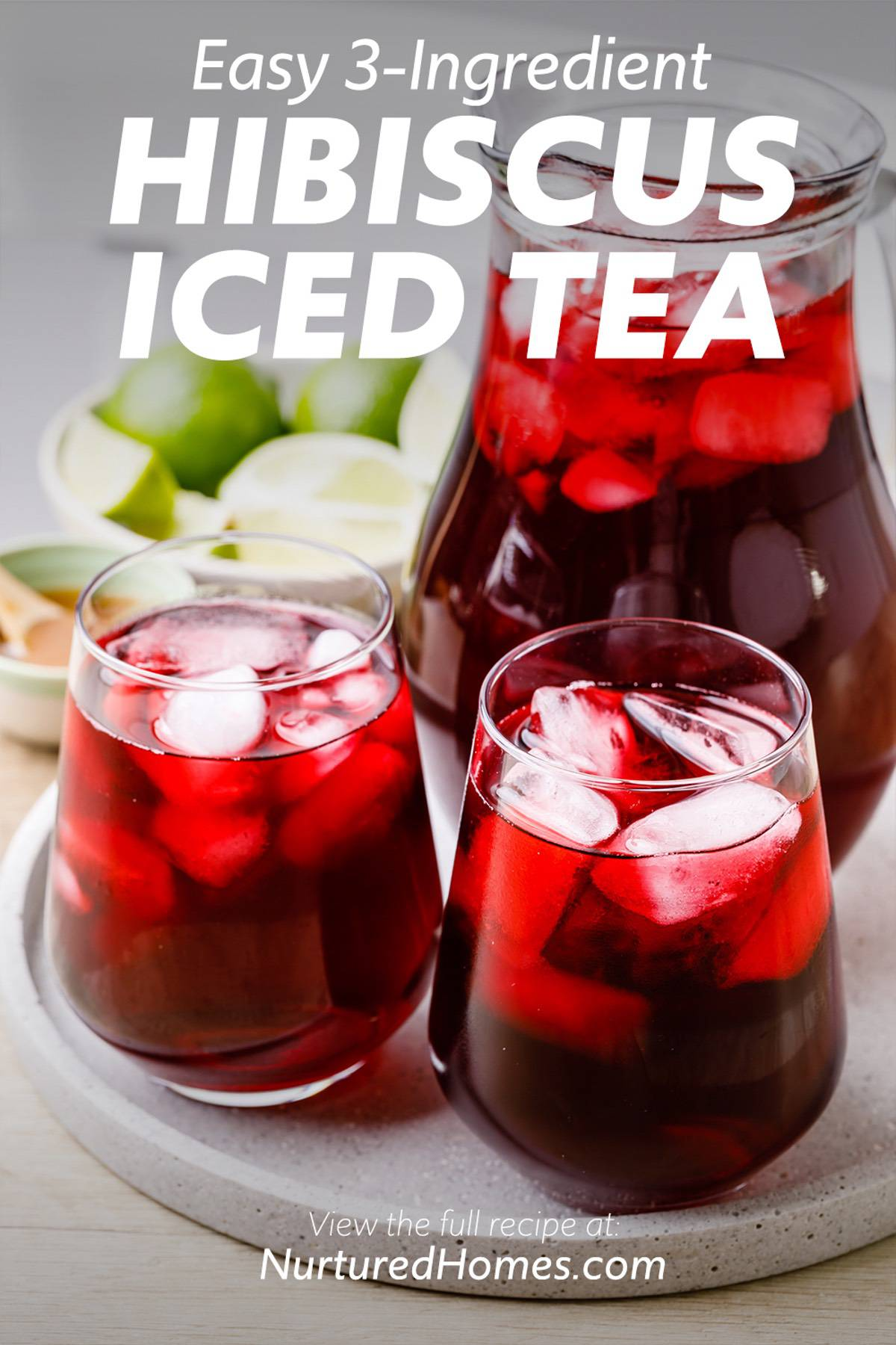 Easy and Refreshing 3-Ingredient Hibiscus Iced Tea Recipe
