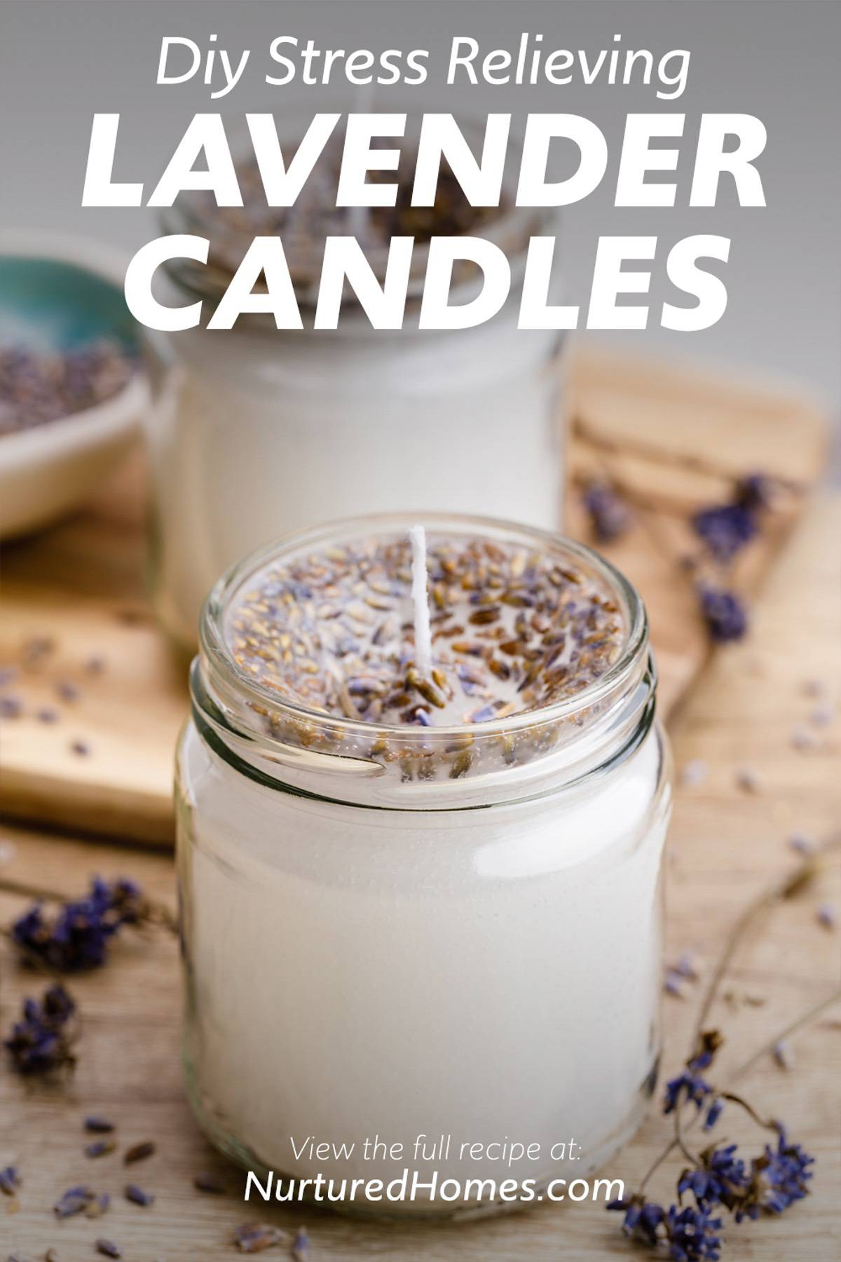 Easy Homemade Lavender Candles for Stress Relief and Relaxation