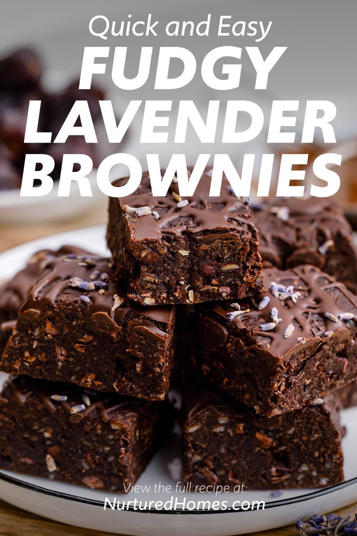 Homemade Fudgy Lavender Brownies