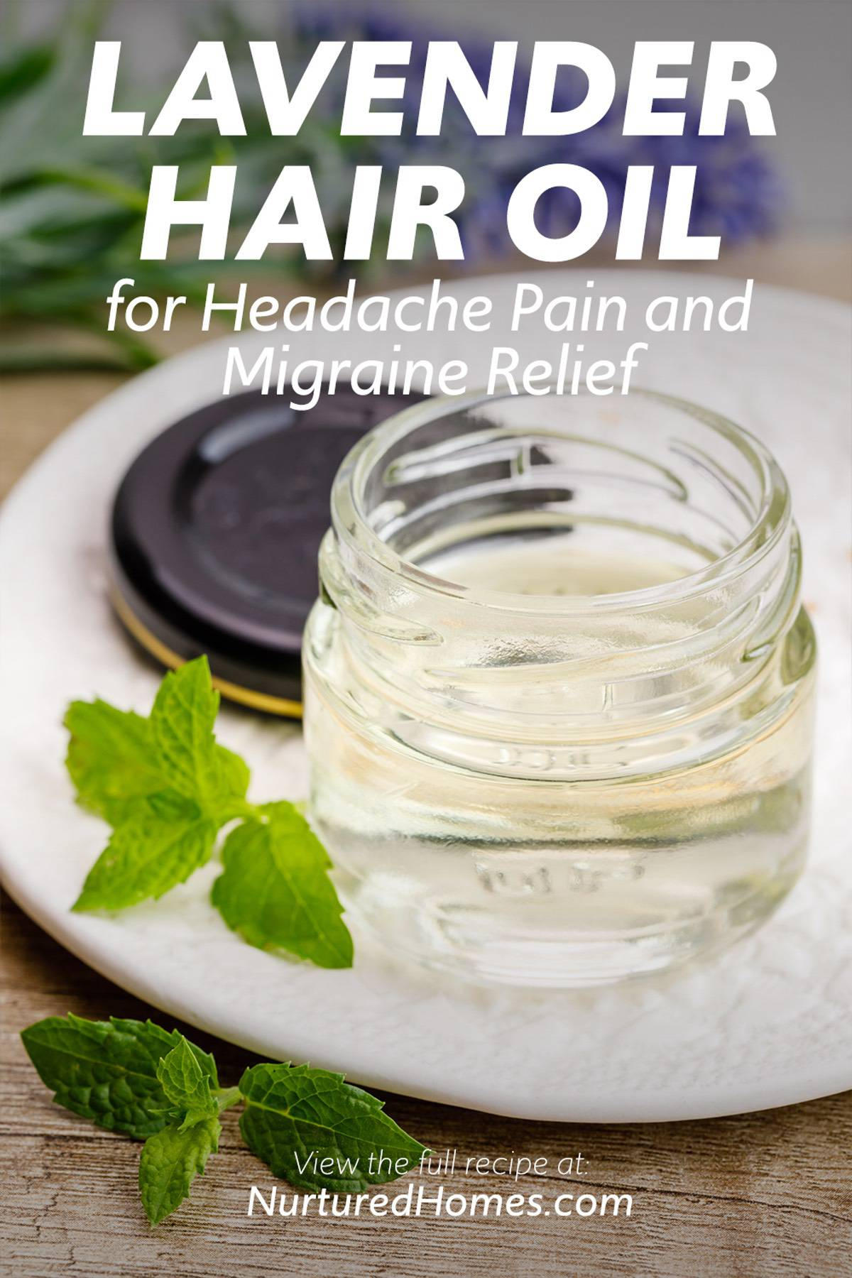 Lavender Hair Oil for Headache Pain and Migraine Relief