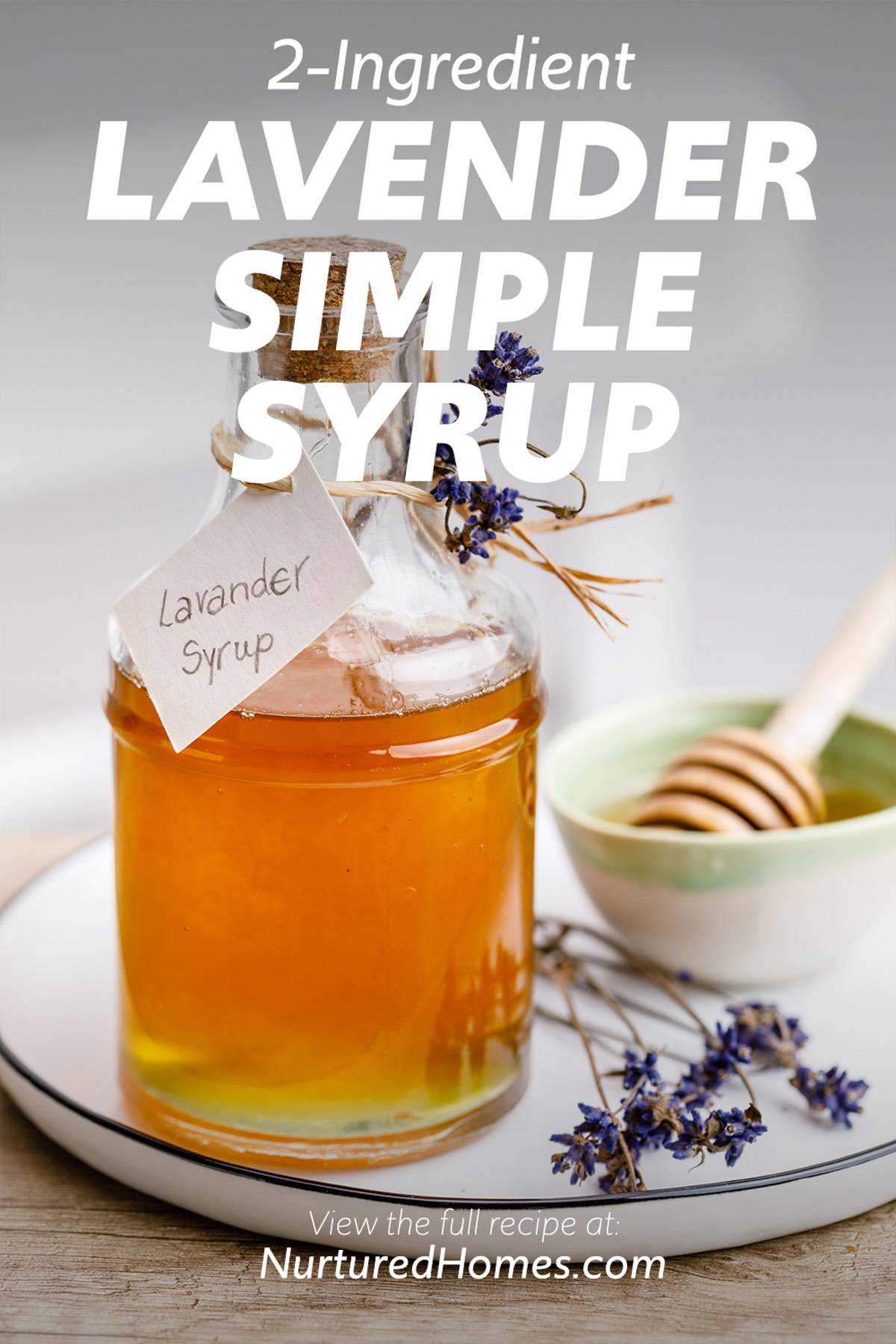 2-Ingredient Lavender Simple Syrup for Lemonade, Cocktails and Coffee