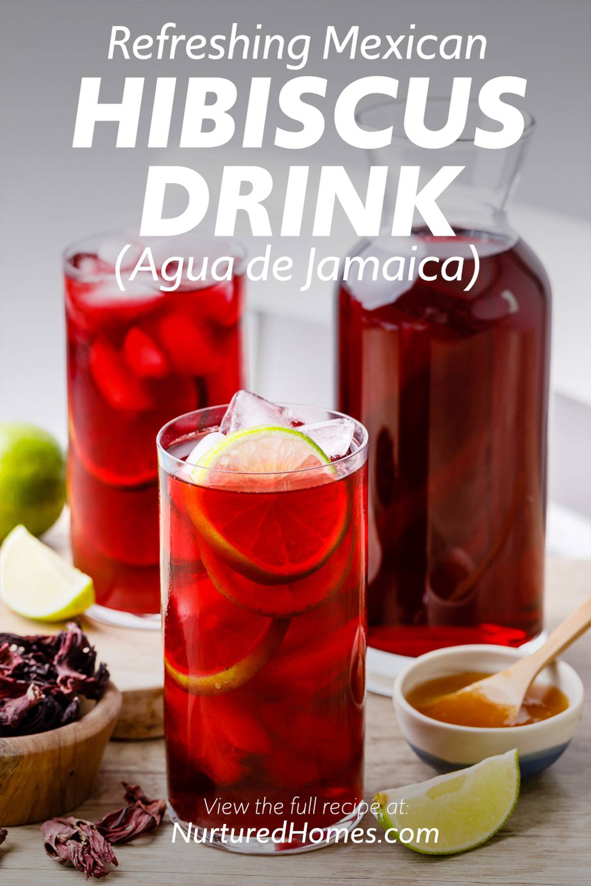 Refreshing Mexican Hibiscus Drink Agua de Jamaica