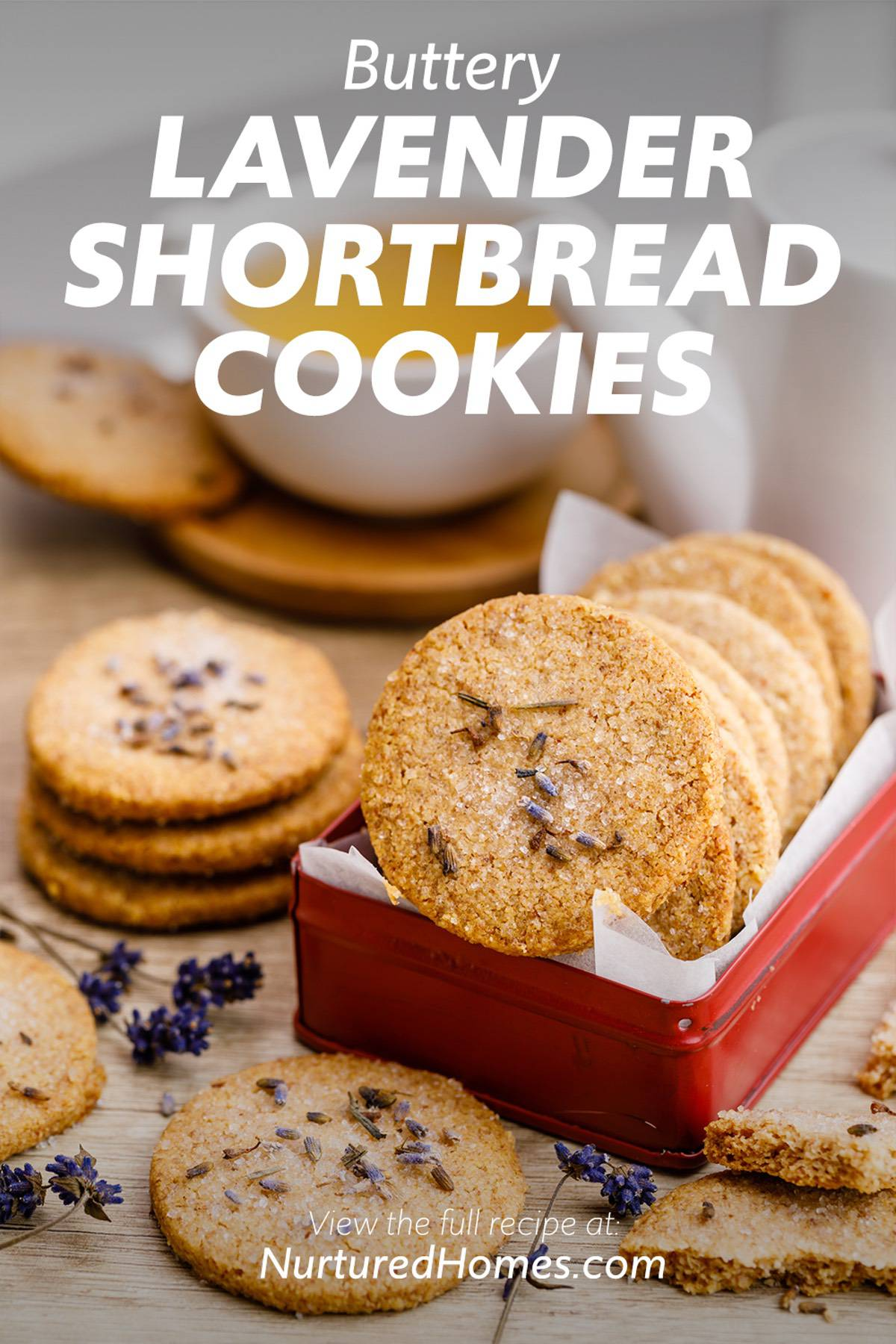 Buttery Lavender Shortbread Cookies