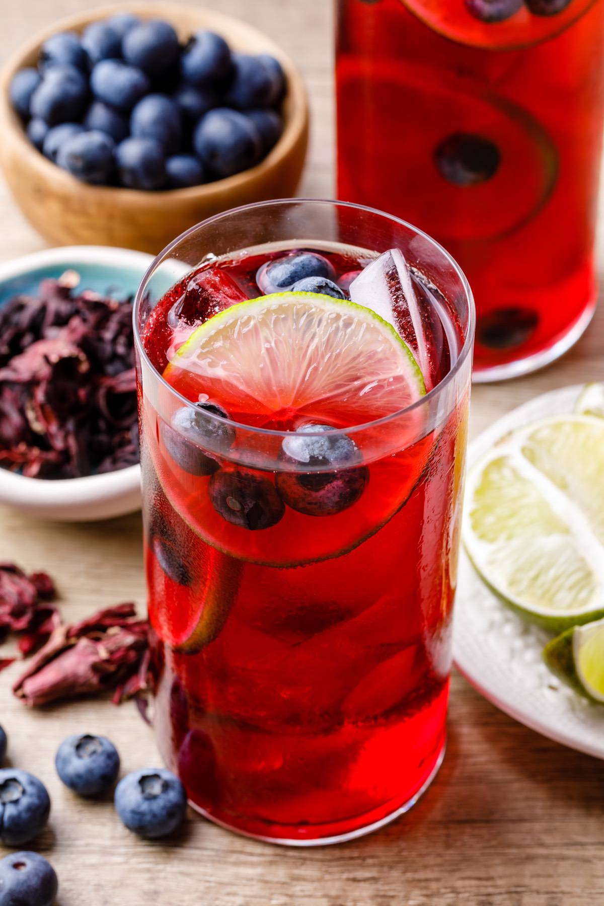 Blueberry Hibiscus Tea