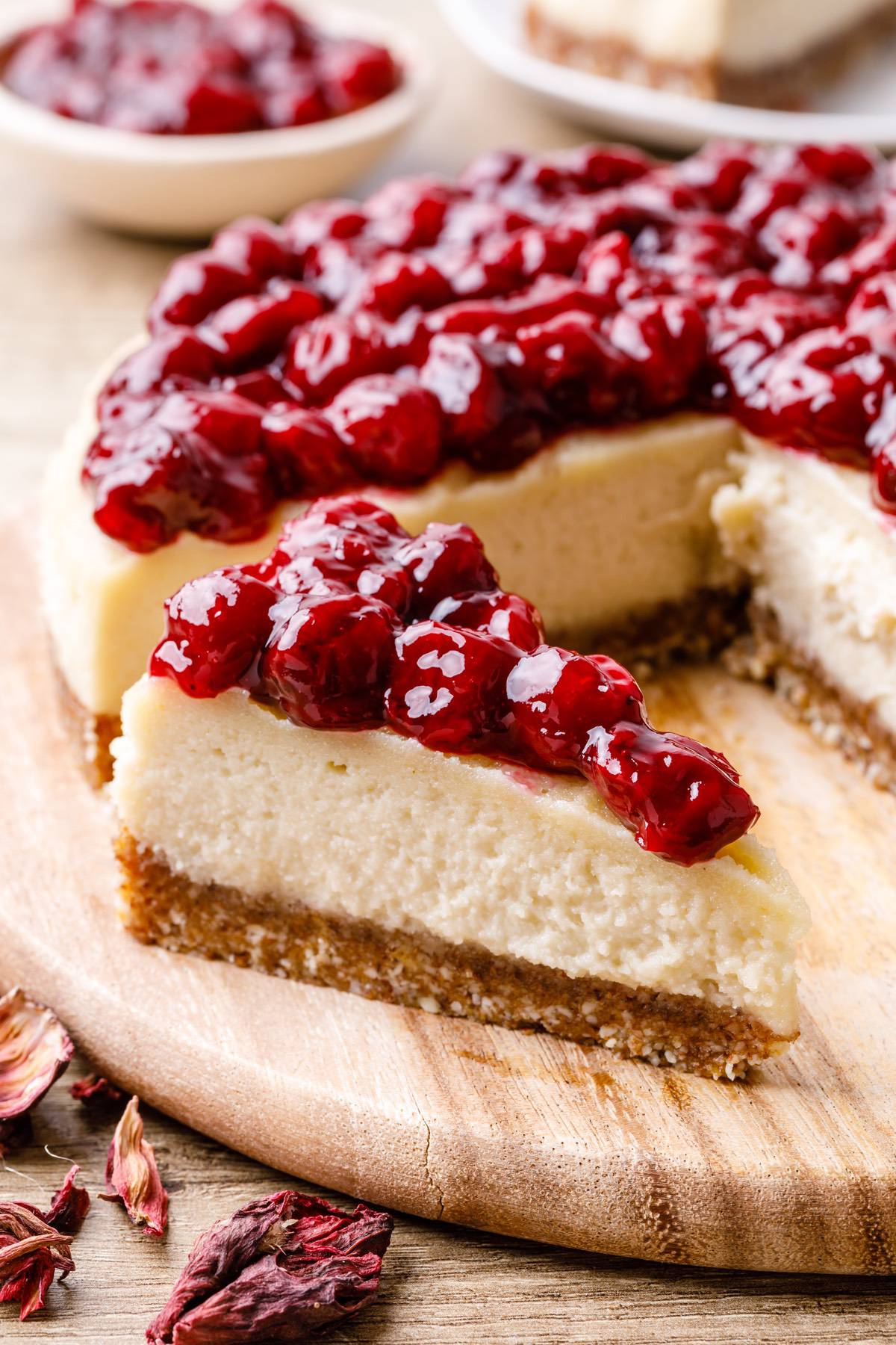 Hibiscus Cherry Cheesecake