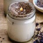 Homemade Lavender Candles