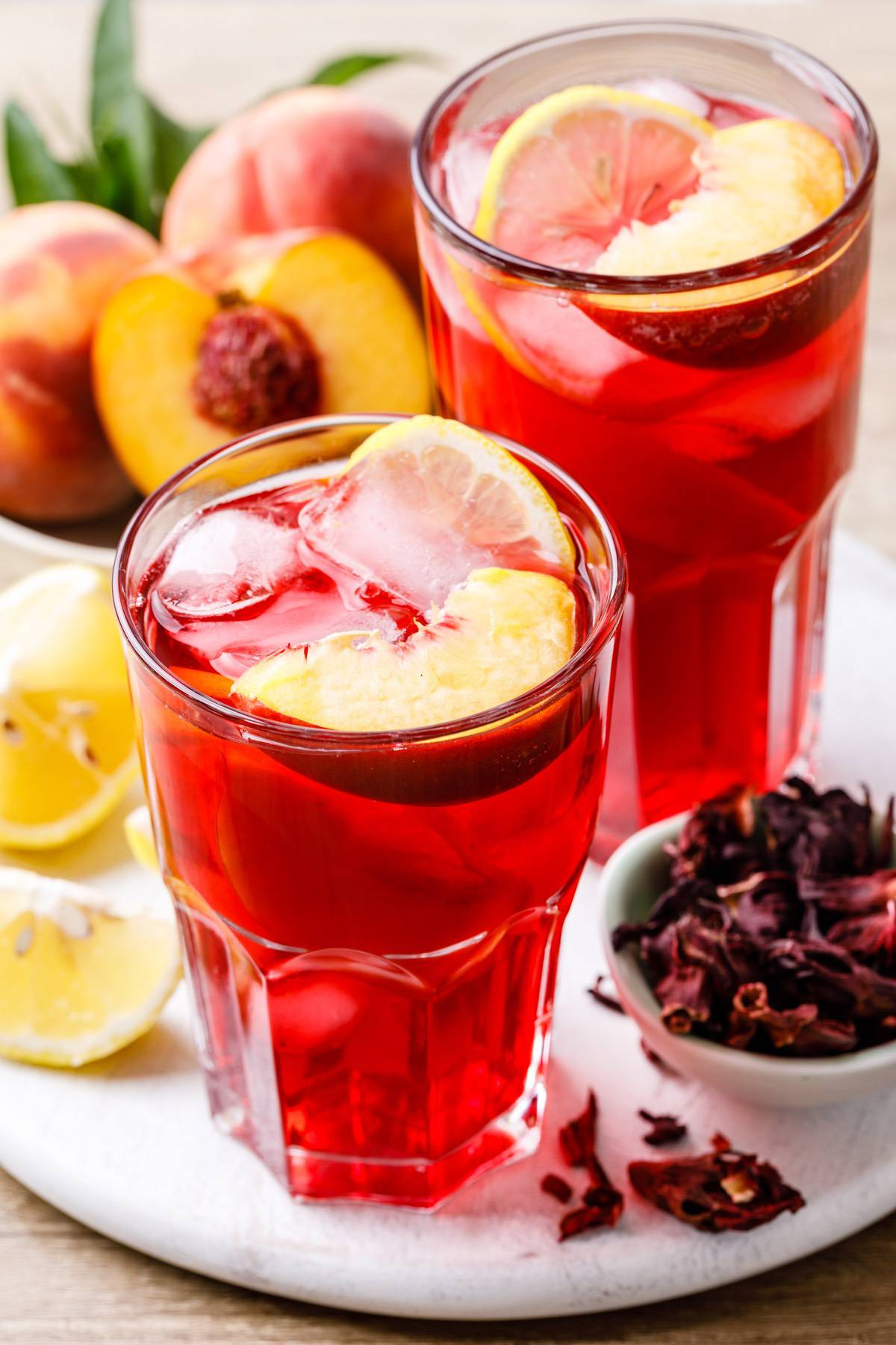 Iced Peach Hibiscus Tea