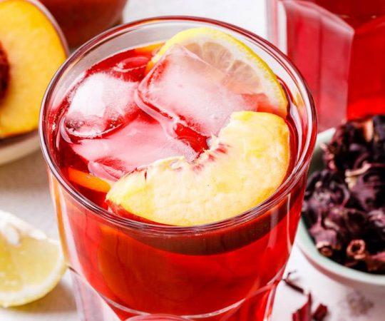 Iced Peach Hibiscus Tea