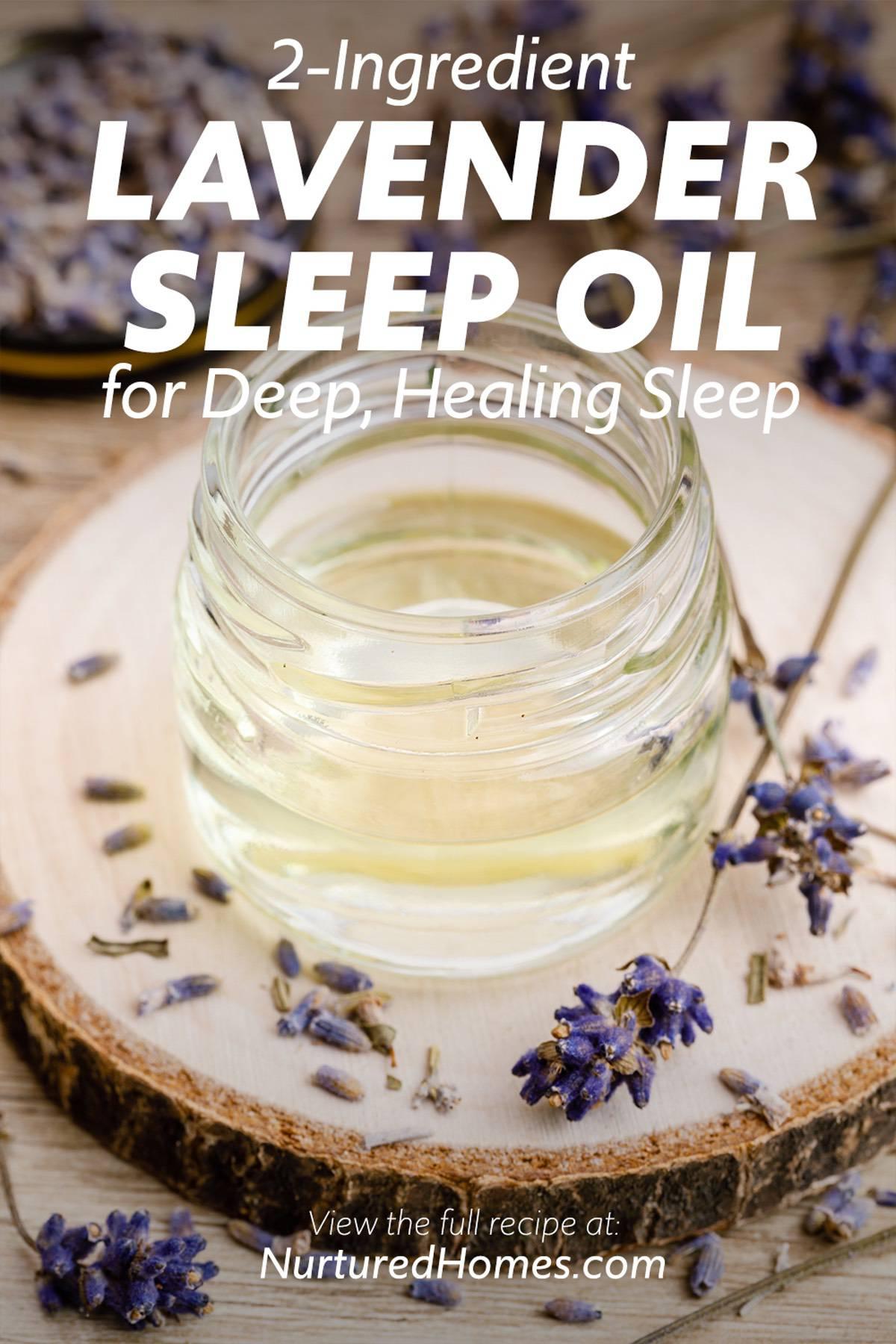 2-Ingredient Lavender Sleep Oil for Deep, Healing Sleep