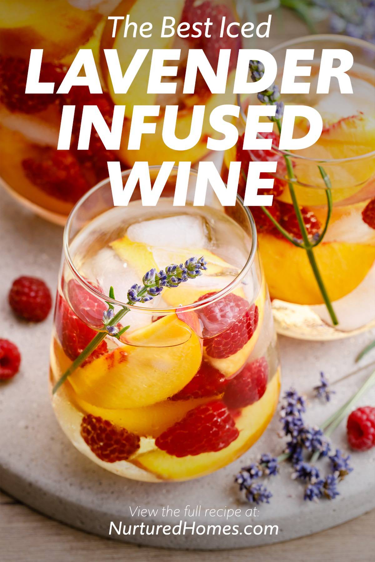 How to Make Iced Lavender-Infused Wine