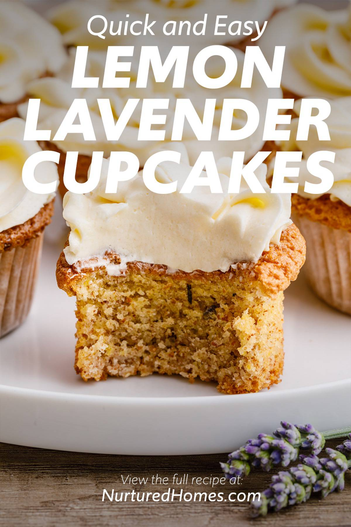 Quick and Easy Lemon Lavender Cupcakes
