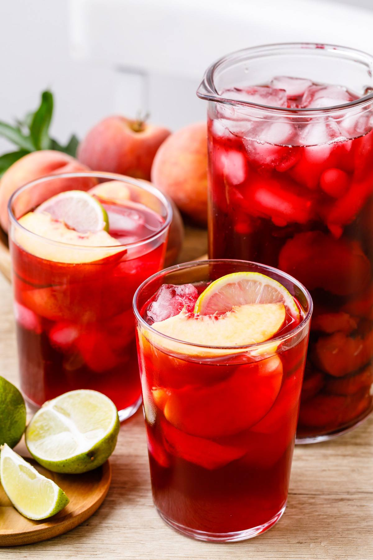 Peach Hibiscus Infused Water