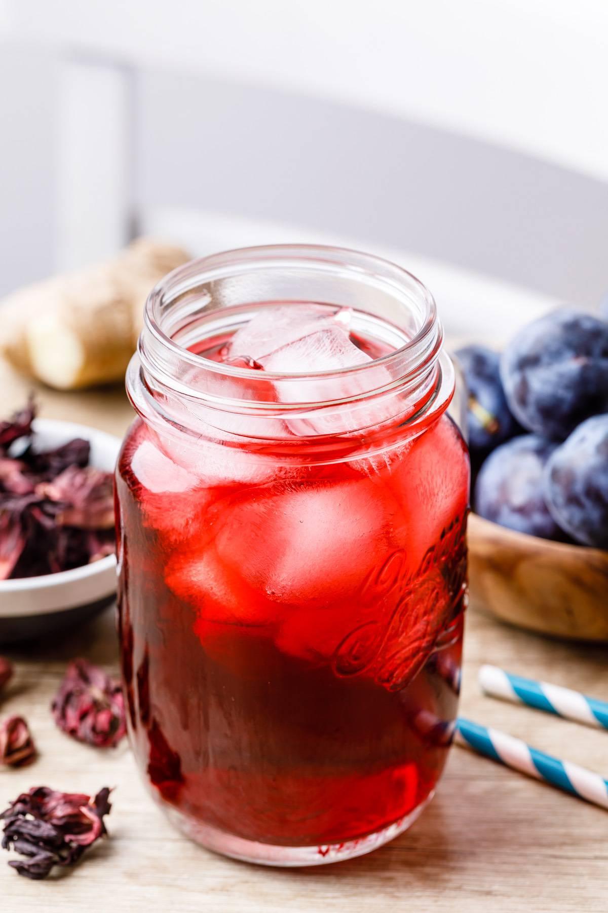 Plum Ginger Hibiscus Tea