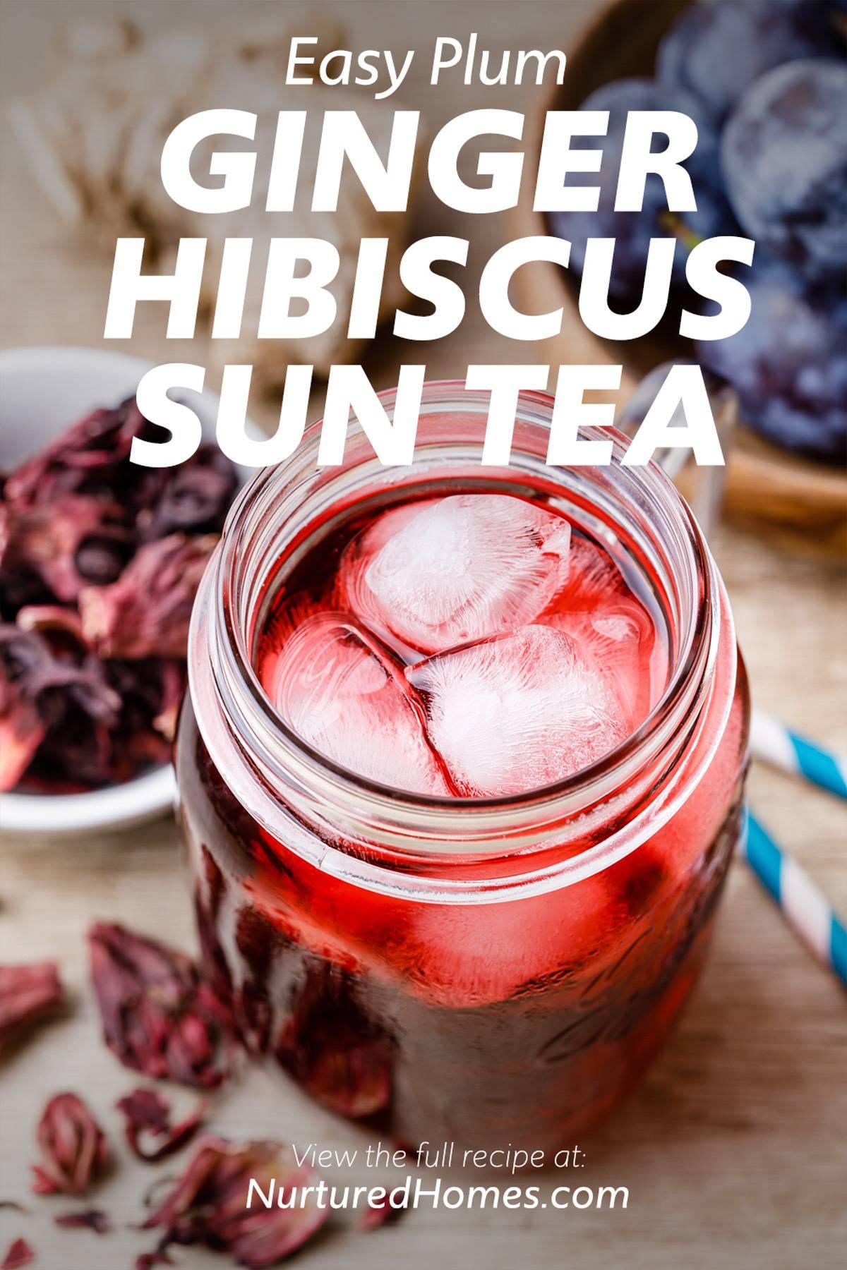 Plum Ginger Hibiscus Sun Tea