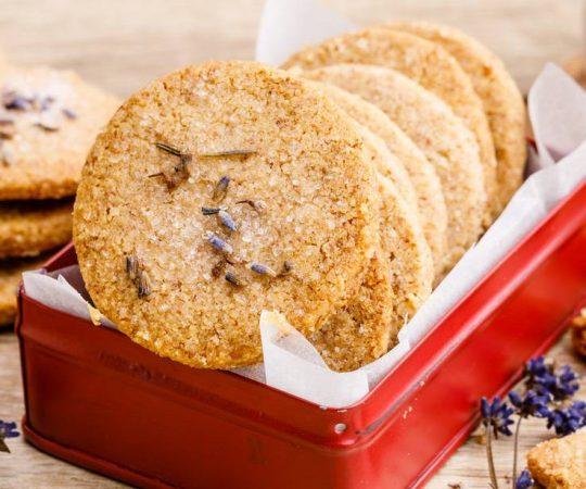 Shortbread Lavender Cookies