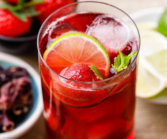 Strawberry Hibiscus Iced Tea