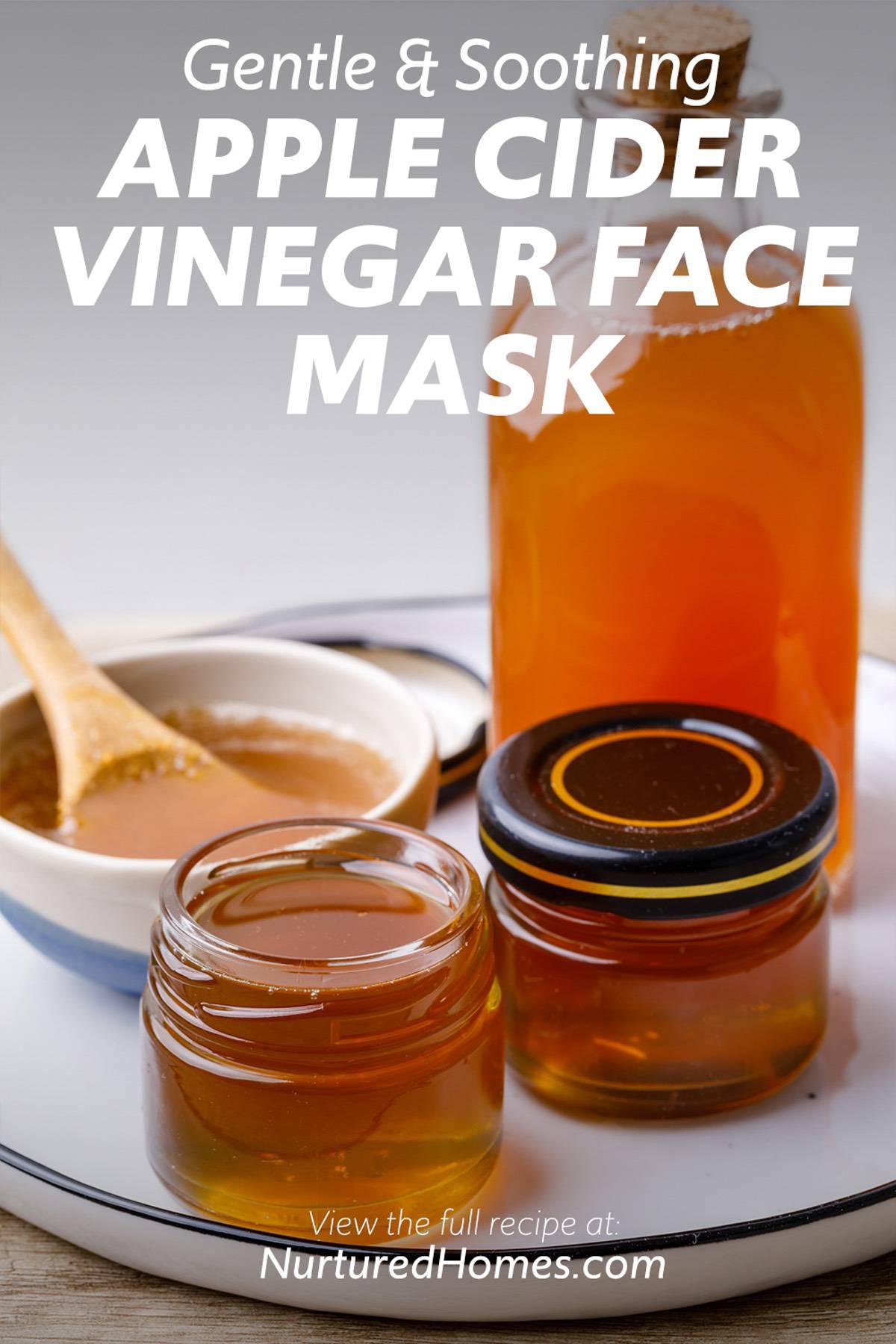 Apple Cider Vinegar DIY Face Mask- gentle and soothing recipe.