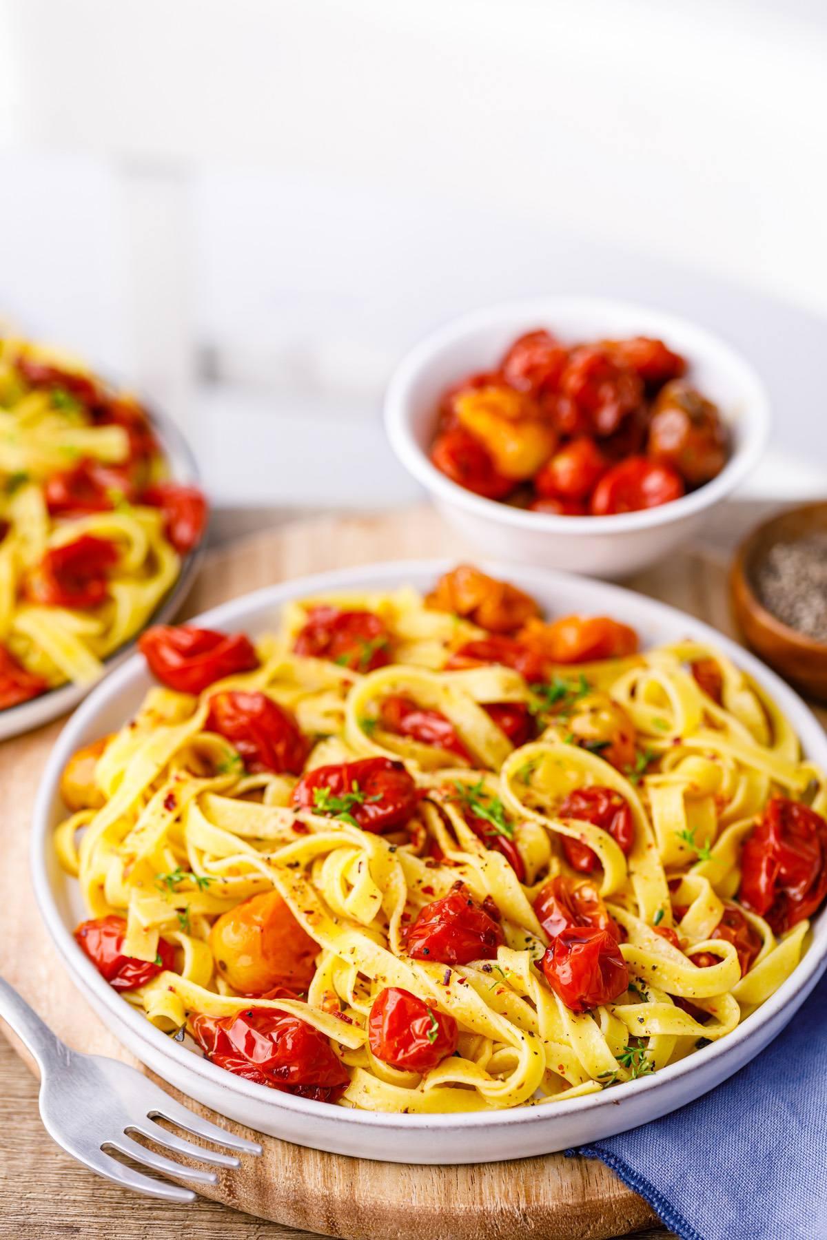 Cherry Tomato Confit Pasta