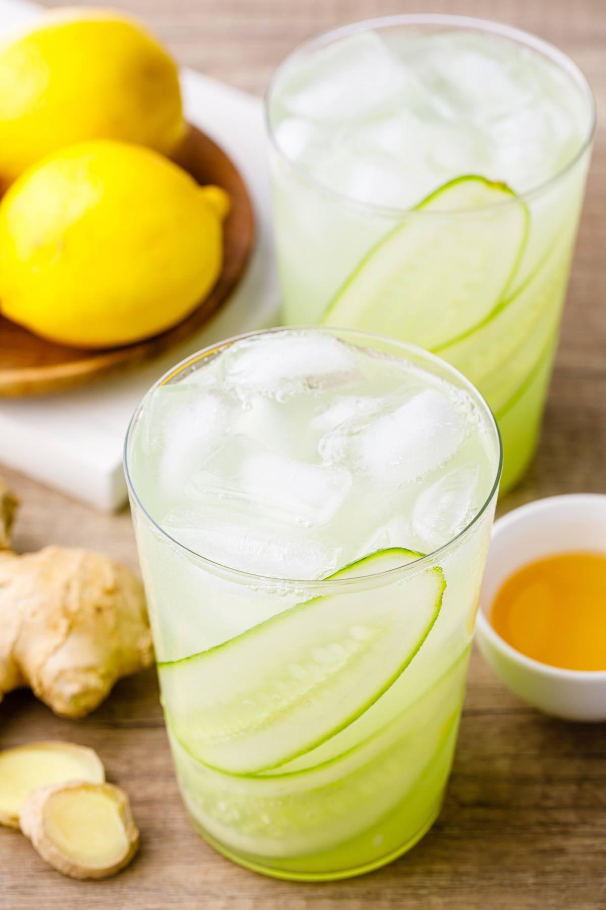 Ginger Cucumber Juice Lemonade
