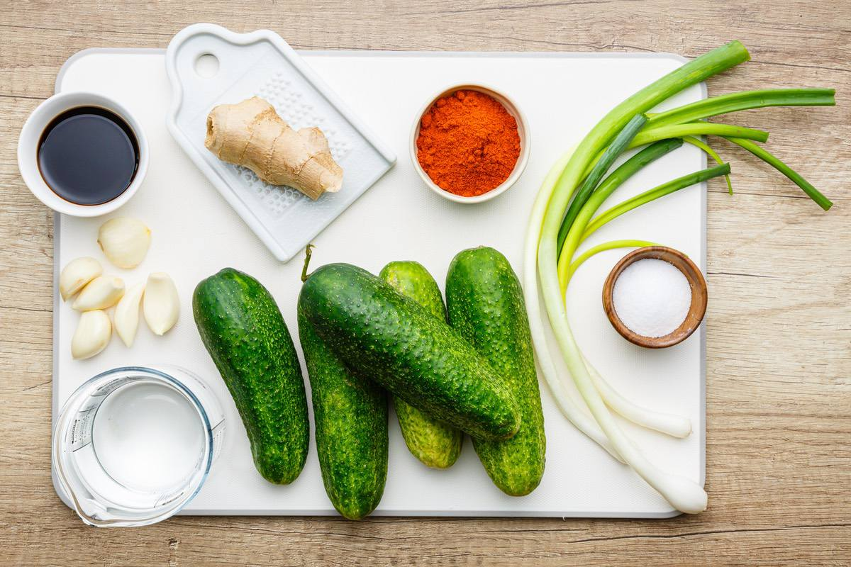 Homemade Cucumber Kimchi
