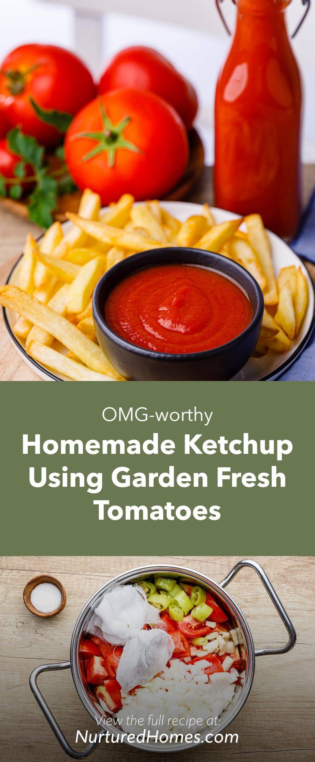 OMG-worthy Homemade Ketchup Using Garden Fresh Tomatoes