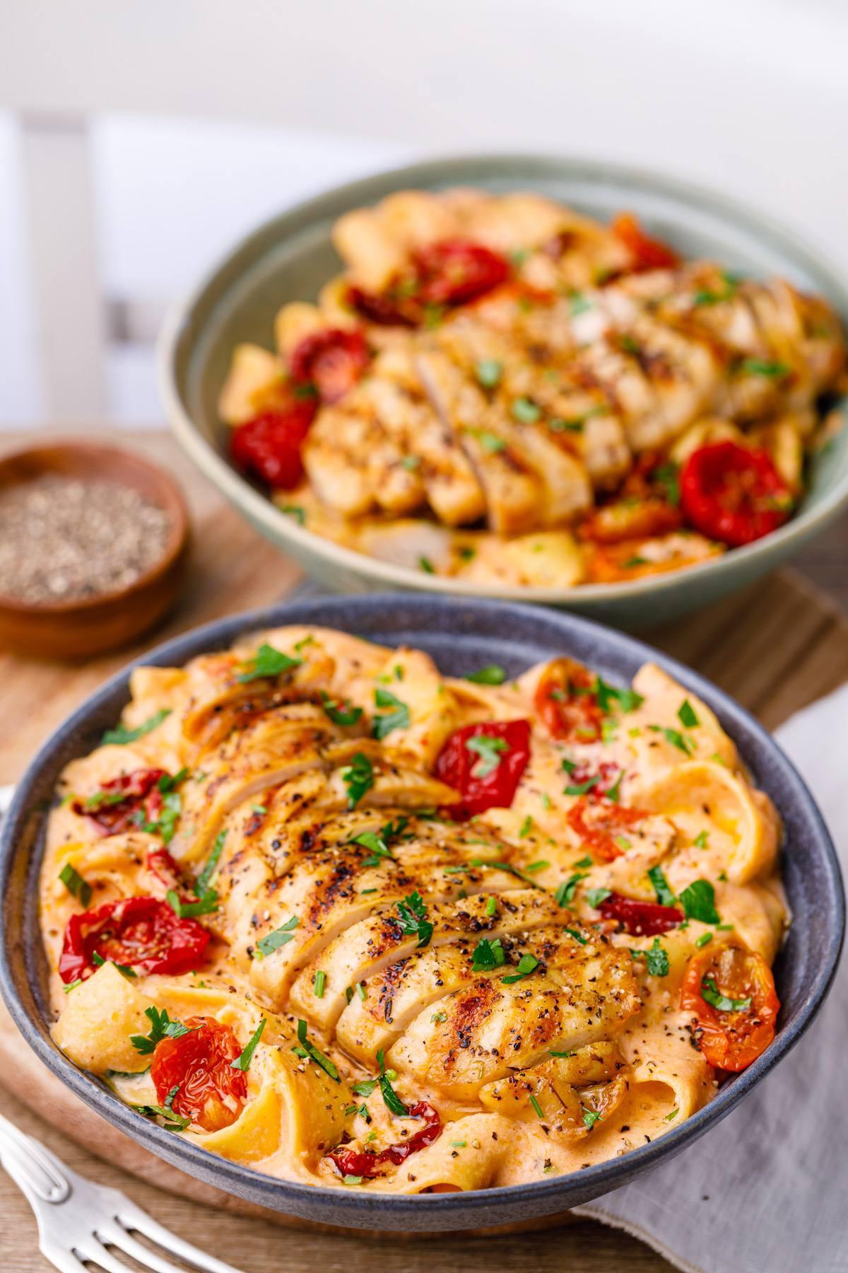 Sun Dried Tomato Pasta With Chicken