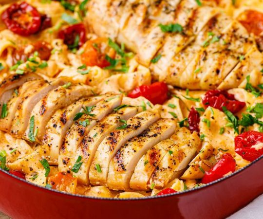 Sun Dried Tomato Pasta With Chicken