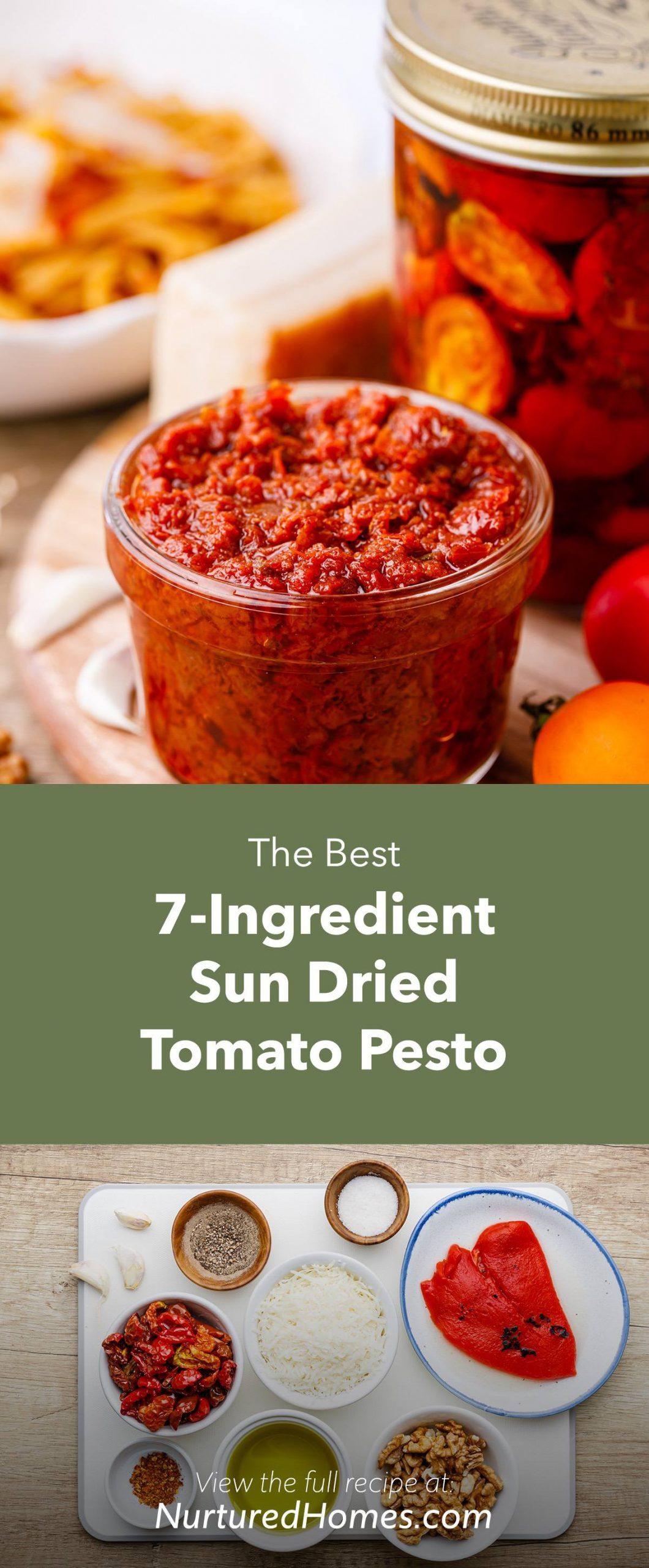 7-Ingredient Sun Dried Tomato Pesto