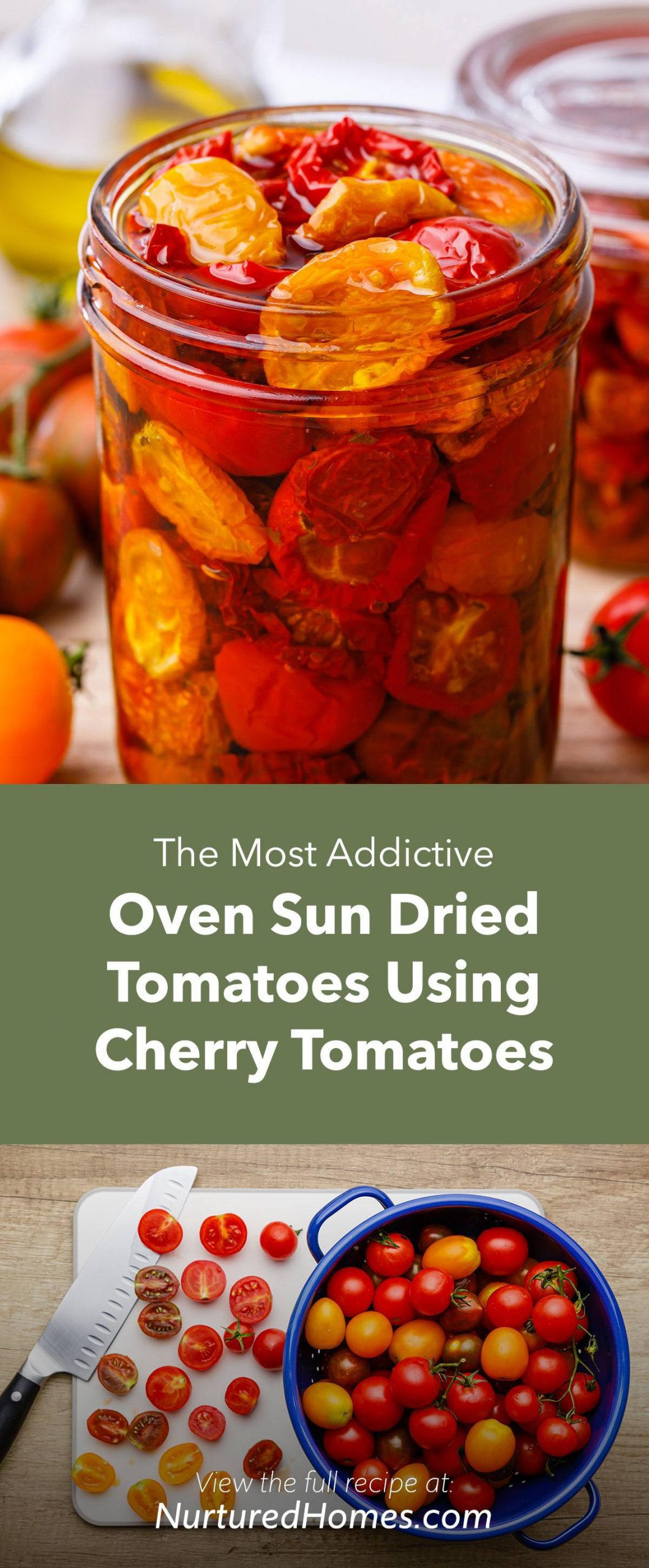 The Most Addictive Oven Sun Dried Tomatoes Using Cherry Tomatoes