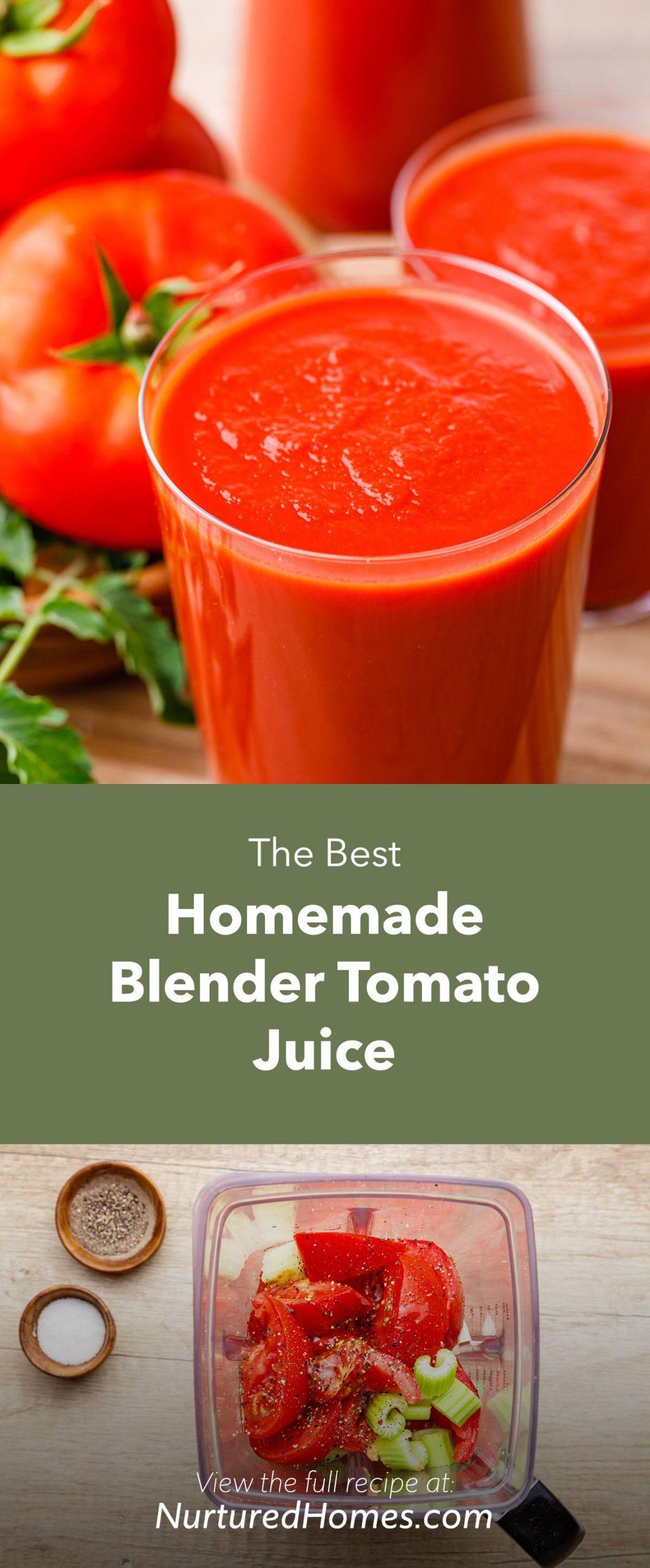 The Best Homemade Tomato Juice