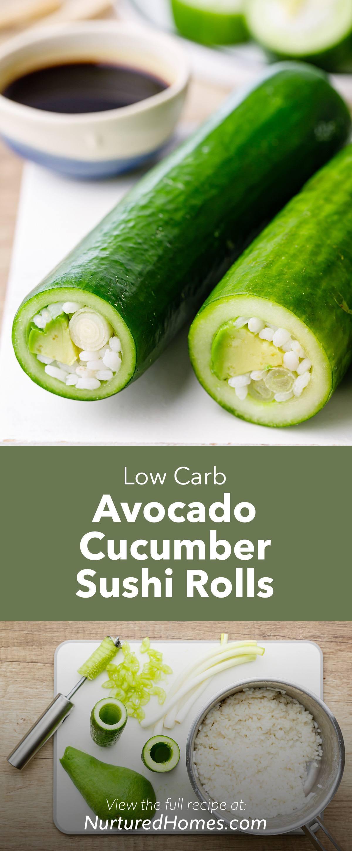 Easy Avocado Cucumber Sushi Rolls