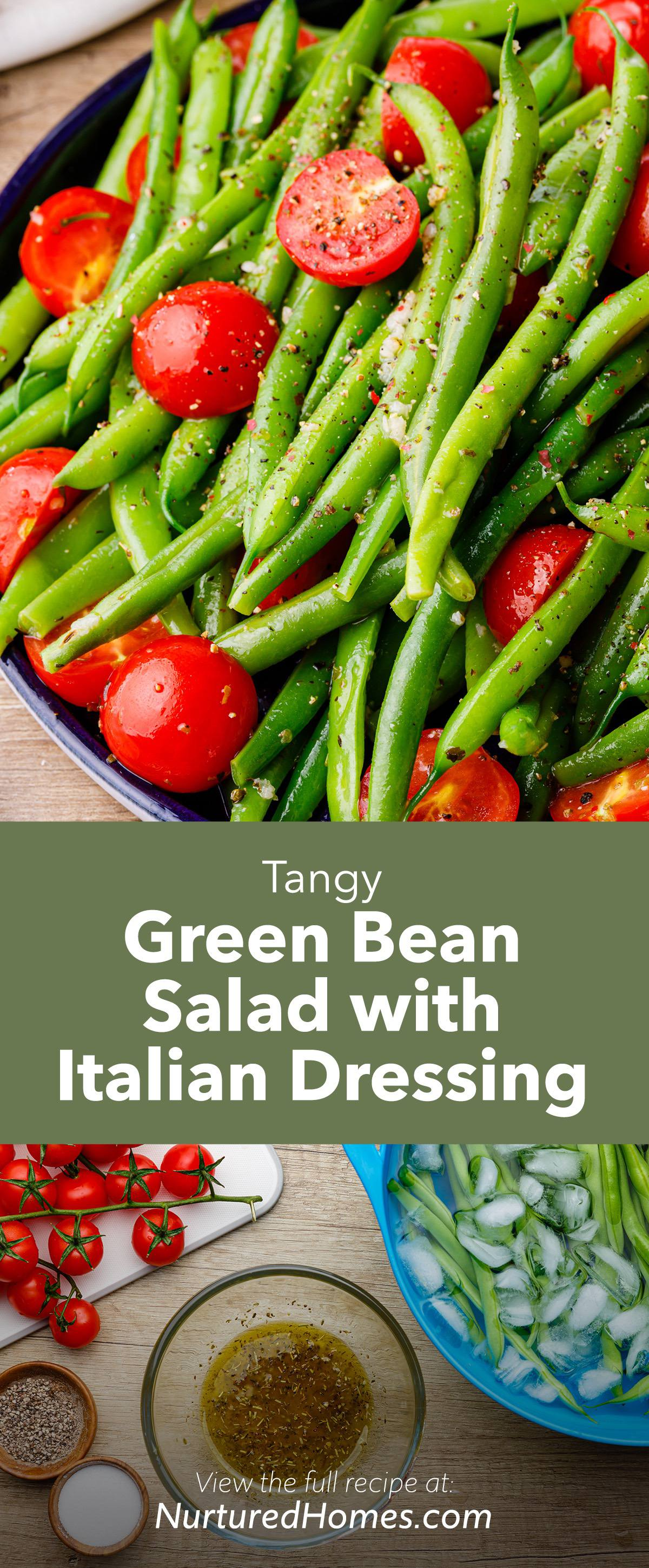Tangy Green Bean Salad with Homemade Italian Dressing