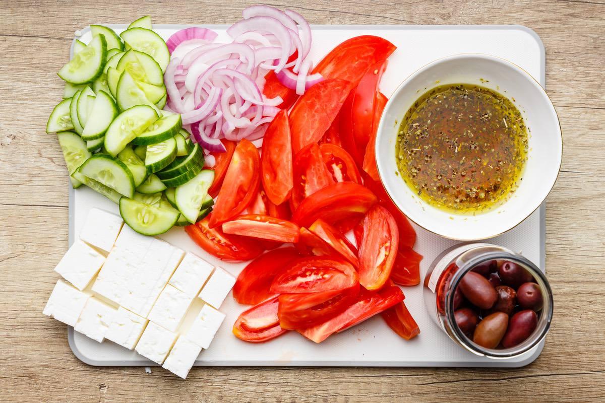 Mediterranean Cucumber Feta Salad