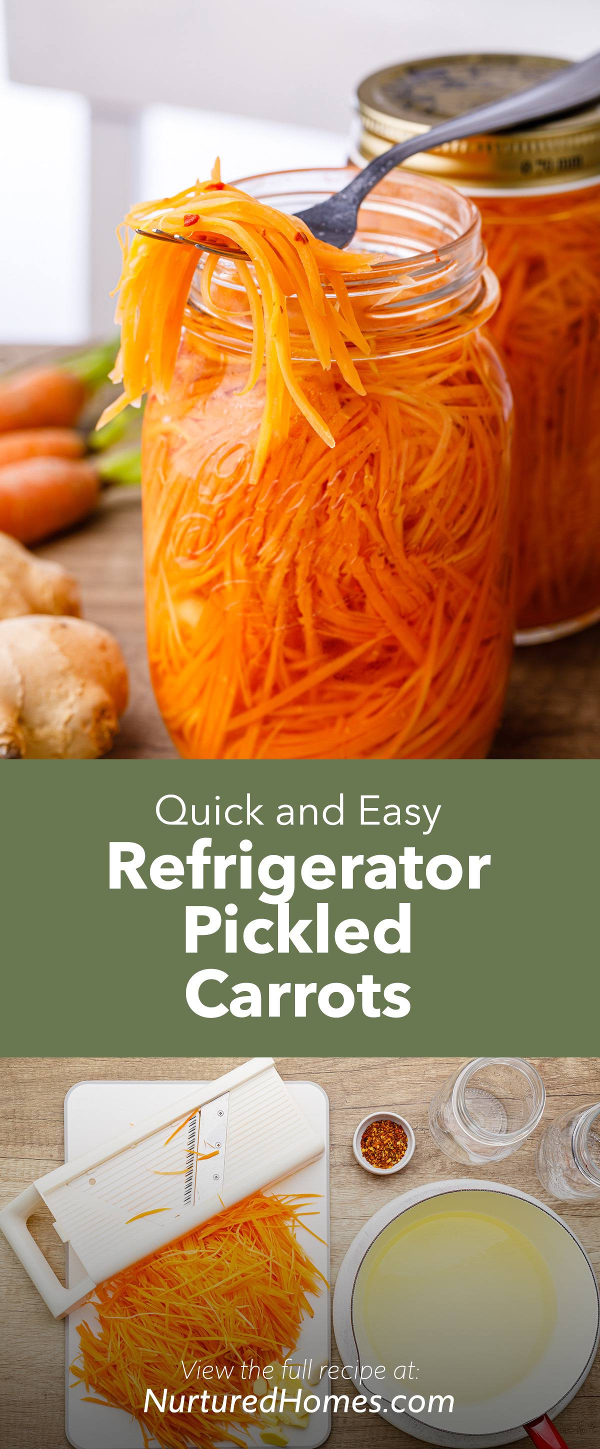 Quick and Easy Pickled Carrots for Asian Food, Salads and Fish Tacos