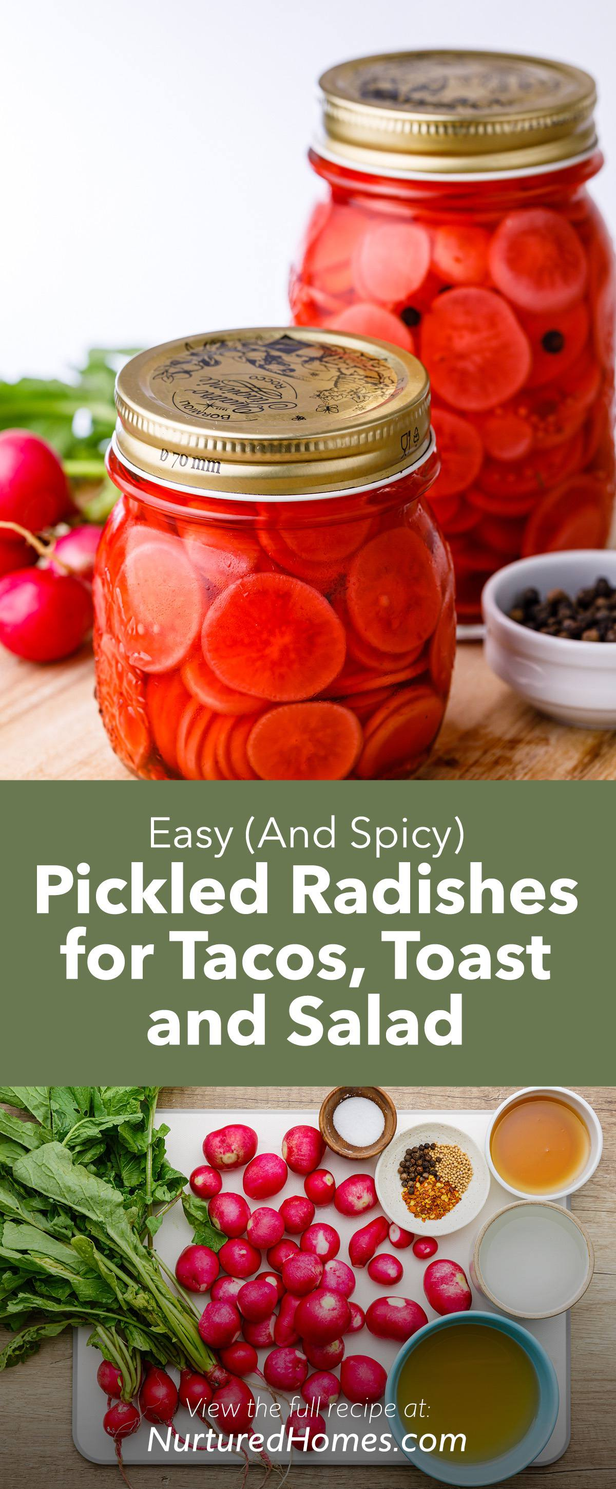 Easy (And Spicy) Pickled Radishes for Tacos, Toast and Salads