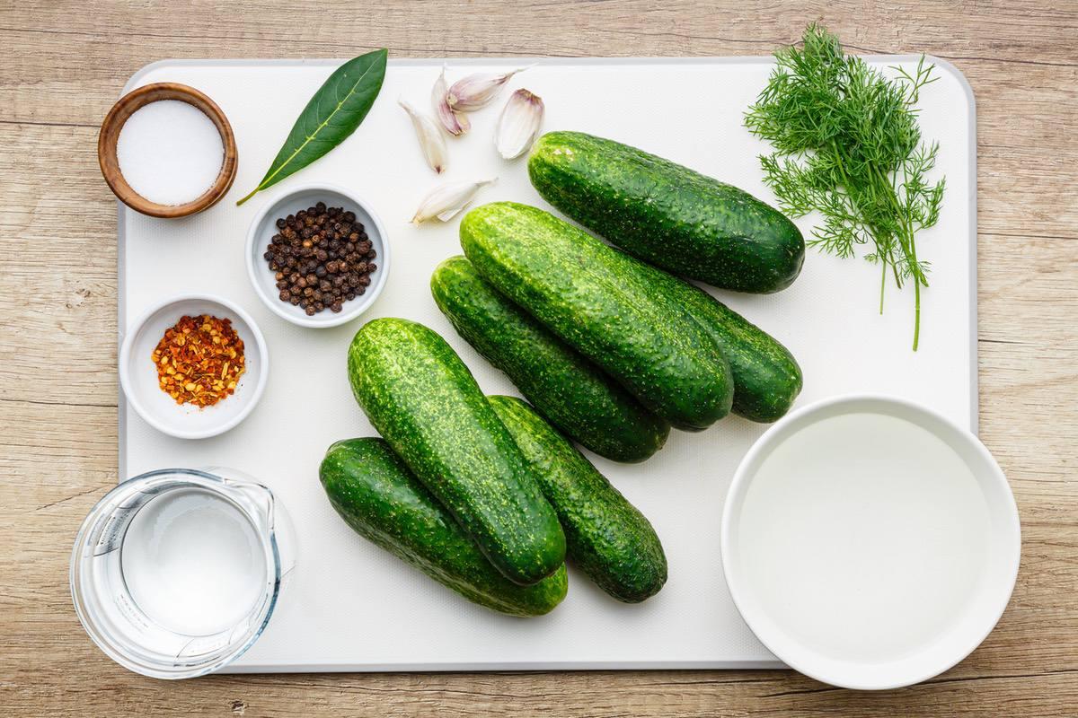Refrigerator Pickled Cucumber Slices