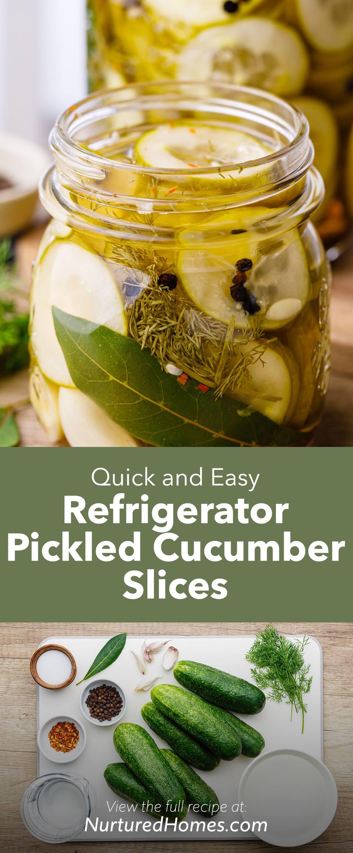 Quick Refrigerator Pickled Cucumber Slices