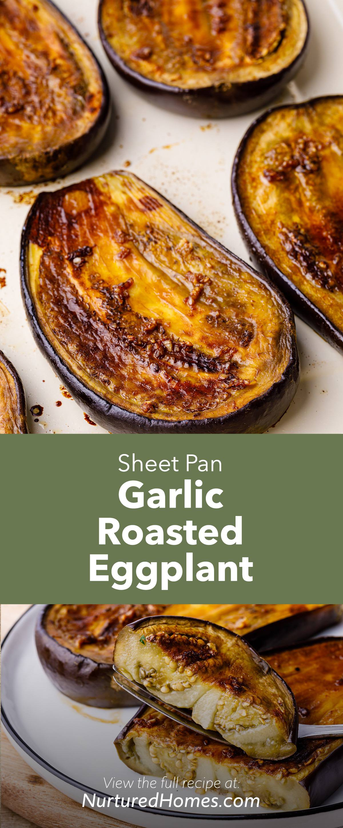 Perfect Sheet Pan Garlic Roasted Eggplant (Easy Oven Roasted Recipe)